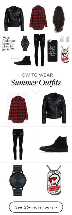 """""""Outfit 1"""" by wonder-world on Polyvore featuring Madewell, Sisters Point, Paige Denim, Converse, Casetify, Rock 'N Rose and Movado"""