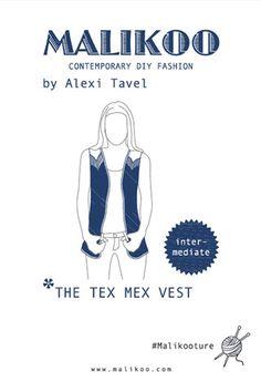 Tex Mex Vest Knitting Pattern – Malikoo