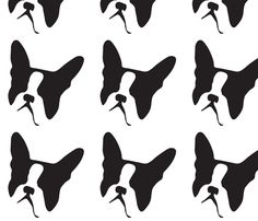 Boston Terrier Dog Breed fabric by mariafaithgarcia on Spoonflower - custom fabric
