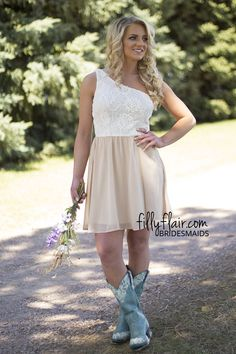 It's a Classic Vintage Bridesmaid in Taupe | Don't miss out on this country bridesmaid dress!