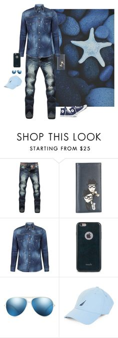 """""""Stonewashed Starfish"""" by halloweenismyfav ❤ liked on Polyvore featuring Dolce&Gabbana, Converse, Dsquared2, Moshi, X-Ray, Nautica, men's fashion, menswear, distresseddenim and beachseries3"""