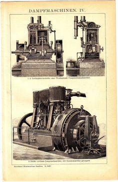 ca1900 Steam Engine, Heavy Machinery, Steam Punk, Steam Engines,Antique Print   eBay Industrial Machinery, Heavy Machinery, Antique Tractors, Vintage Tractors, Tractor Pictures, Beam Structure, Steampunk, Oshkosh M Atv, Power Motors