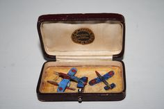 Vintage Jewelery Distressed Box Seddon With 2 Plane Matches Hand Made Models by Fashion4Nation on Etsy