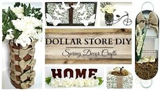 Dollar Store DIYS EARTH TONE Spring Home Decor Crafts Home Decor Ideas Bedroom Kids, Home Decoration Diy, Home Decoration Products, Home Decoration Diy Ideas, Home Decoration Design, Home Decoration Cheap, Home Decoration With Wood, Home Decoration Ideas. #decorationideas #decorationdesign #homedecor