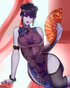 Black Lily Widow by McDobo on DeviantArt Overwatch Widowmaker, Character Concept, Character Art, Character Design, Matou, Another Anime, Manga Girl, Anime Girls, Pretty Art