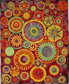 Art Quilt Techniques Free | Crafty Garden Mom: Past Quilt #3: 3 Vases