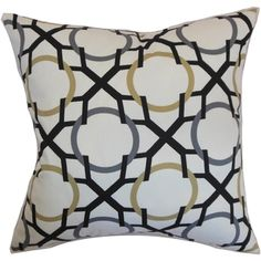 Lacbiche Geometric Slate Feather and Down Filled Throw Pillow - Overstock™ Shopping - Great Deals on PILLOW COLLECTION INC Throw Pillows