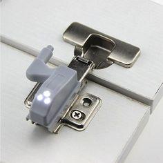 קבינט ארון ארון בגדים ארון מטבח חדר שינה סלון אוניברסלי 0.25 W מערכת אור LED חיישן פנימי ציר