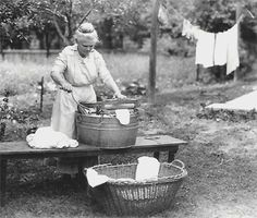 This blog has a recipe for homemade laundry detergent, but the best is the Washing Day Instructions given to a bride in 1912 by her Kentucky grandma.