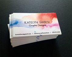Watercolor business cards a pinterest collection by maura reed an awesome collection of watercolor business cards business card designbusiness ideasartist colourmoves