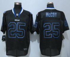 Buffalo Bills #25 LeSean McCoy Lights Out Black NFL Nike Elite Men's Jersey
