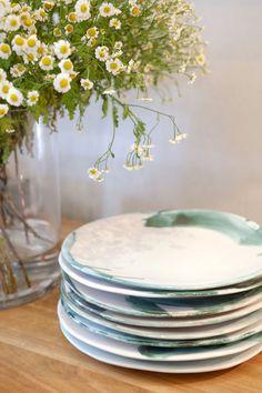 Klooftique Organic plates from Mervin Gers Ceramics