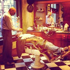 The classic barber shop straight edge shave.... #authentic #traditional #barbers - @barberboss- #webstagram