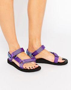 Image 1 ofTeva Original Universal Azura Purple Flat Sandals