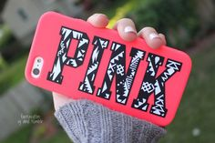 Design your own PINK phone case.
