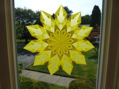 """Stern Nr. 4"" window star - made by Misty Wagner - pattern from the book, ""Transparente Fenstersterne fuer Fortgeschrittene"" by Marianne Stettler"