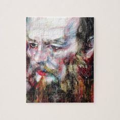 FYODOR DOSTOYEVSKY - watercolor portrait.2 Jigsaw Puzzle - home gifts cool custom diy cyo