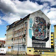Other @troy_lovegates and Saddo @saddo.ro collab mural for Urban Art Festival Dresden. Thank @jens_besser for the invaluable insights. #magiccitylife #dresden #germany #muralart #streetart #urbanart #saddo #other #troylovegates #urbanartfestivaldresden