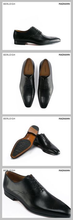 6a566f5a654aa1 Magnanni medallion toe wholecut black oxford  Handfinished from wholecut  leather