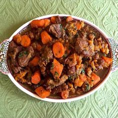 Moroccan Lamb Tagine with Dates and Dried Apricots