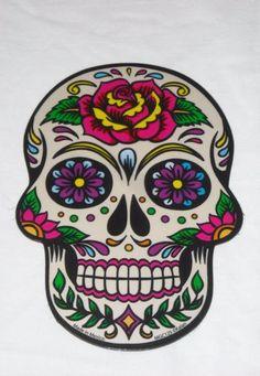 Day of the Dead sugar skull Dia de los Muertos MAGNET