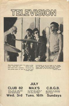 fw — television @ CBGB's flyer
