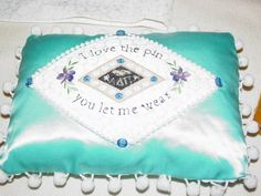 Pin song pillow for the alum who traveled the furthest for the reunion!