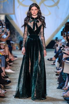 A look from Elie Saab Haute Couture Fall 2017. Photo: Imaxtree