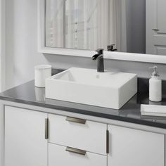 Rene by Elkay R2-5018-B-R9-7008 Biscuit Porcelain Vessel Sink with Vessel Faucet and Vessel Pop-Up Drain (
