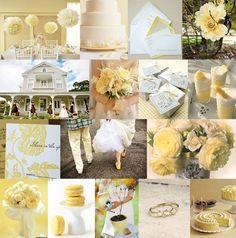 Sweet Buttercream wedding color scheme!