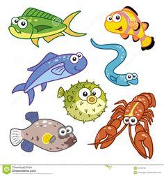 cartoon sea creatures - Google Search