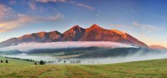 Zdiar view in High Tatras High Tatras, European Countries, Czech Republic, Cool Photos, Sunrise, Waterfall, Mountains, Nature, Photography