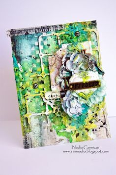 Just My Scrapping World.. : Mixed Media card and Video Tutorial for 7 Dots Studio