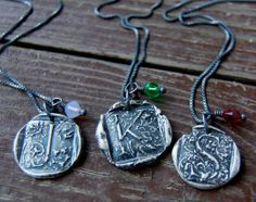 Personalized Wax Seal Initial Necklace by FlirtandFlutter | Hatch.co