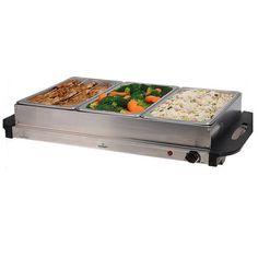 Elektrische universele buffetwarmer met 3 bakken van 2L