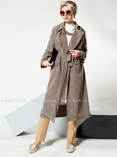 islamische kleidung fuer frauen mymodestystyle.com besuchen sie unsere shop #hijab #abayas #tuekische kleider #abendleider #islamischekleidung  Shawl Collar Topcoat - Mink - Refka - <p>Fabric Info:</p> <p>70% Cotton</p> <p>30% Polyester</p> <br> <p>Unlined</p> <p>Weight: 0.47 kg</p> <p>Measures of 38 size:</p> <p>Height: 112 cm</p> <p>Bust: 98 cm</p> <p>Waist: 92 cm</p> <p>Hips: 102 cm</p> - SKU: 215196. Buy now at http://muslimas-shop.com/shawl-collar-topcoat-mink-refka-172221.html