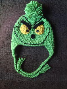 Crochet grinch hat