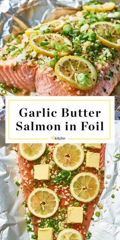 How To Make the Best Garlic Butter Salmon in Foil | Kitchn Grilled Salmon Recipes, Fish Recipes, Seafood Recipes, Salmon Grilled In Foil, Salmon Foil Packets Grill, Bbq Salmon In Foil, How To Grill Salmon, Foil Wrapped Salmon, Easy Salmon Recipes