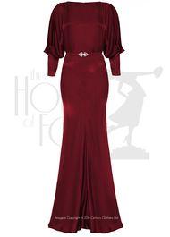 30s Siren Evening Gown - rouge velvet