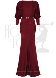 30s Siren Evening Gown - rouge velvet
