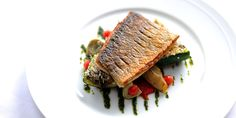 The oily texture of sea bass makes it perfect for griddling. Here, eminent chef, William Drabble does exactly that, serving with provençal vegetables