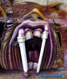 Collection of amazing street art, graffiti art & urban art on Mr Pilgrim online. See more including original street art for sale from UK artist. Murals Street Art, 3d Street Art, Amazing Street Art, Street Art Graffiti, Street Artists, Amazing Art, Street Work, Urban Graffiti, You're Awesome
