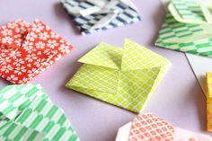 折り紙で風車みたいなポチ袋の作り方