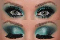 Teal. Slightly drag queen esk but the colour is pretty
