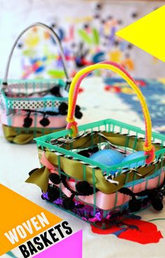 how to make woven baskets- perfect Easter craft to do with the kids