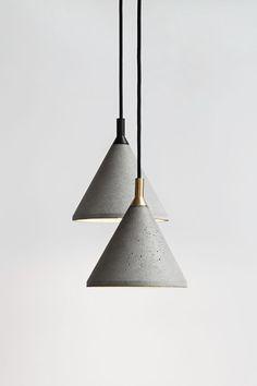 concrete lamp design Zhong by Bentu Design ~ seandavidson