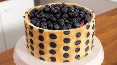 Pünktchen-Torte mit Blaubeeren Rezept als Back-Video zum selber machen! Ganz einfach Schritt für Schritt erklärt!