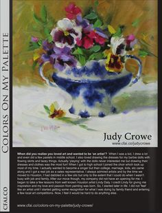 http://issuu.com/cfai.co/docs/visuallanguage?mode=window=%23222222 Judy Crowe Texas Artist from CFAI interview...