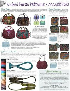 hooked purse patterns...accessories