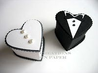 wedding heart box favors by Kay Sha